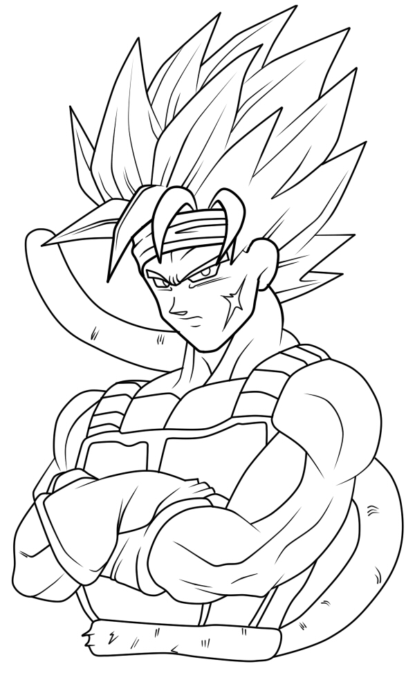 Super Saiyan 2 Bardock Lines By TrebleEXE On DeviantArt Dragon Ball Z Coloring Pages