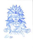 SSJ3 Kid Goku by TrebleEXE