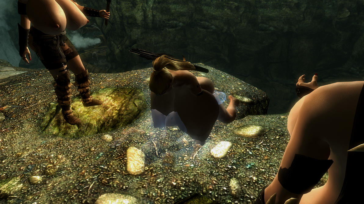 Skyrim, heavily modded 8! Who's the ghost? by anglosaxoncelt