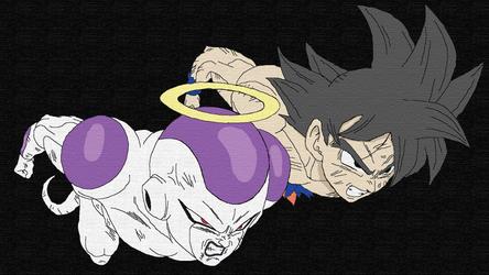 Goku and Freeza by SmileTheRider