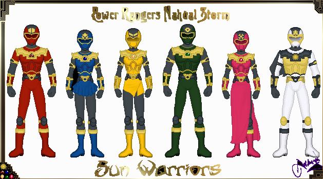 Power Rangers Nahual Sun by Ameyal