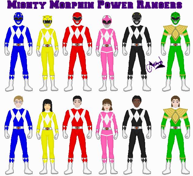 Mighty Morphin Power Rangers Wallpaper: MMPR By Ameyal On DeviantArt