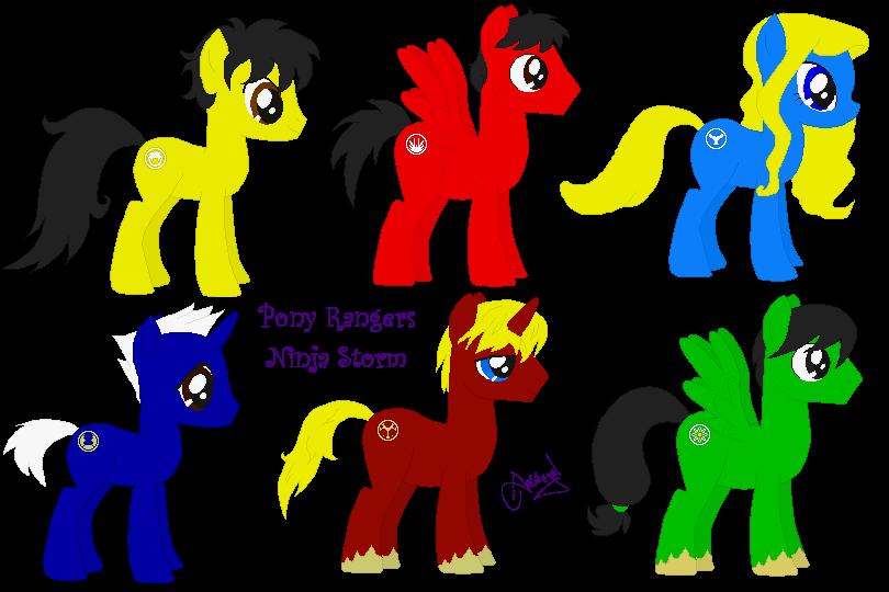 Pony Rangers Ninja Storm by Ameyal