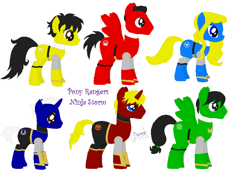 Pony Ranger Ninja Storm V2 by Ameyal