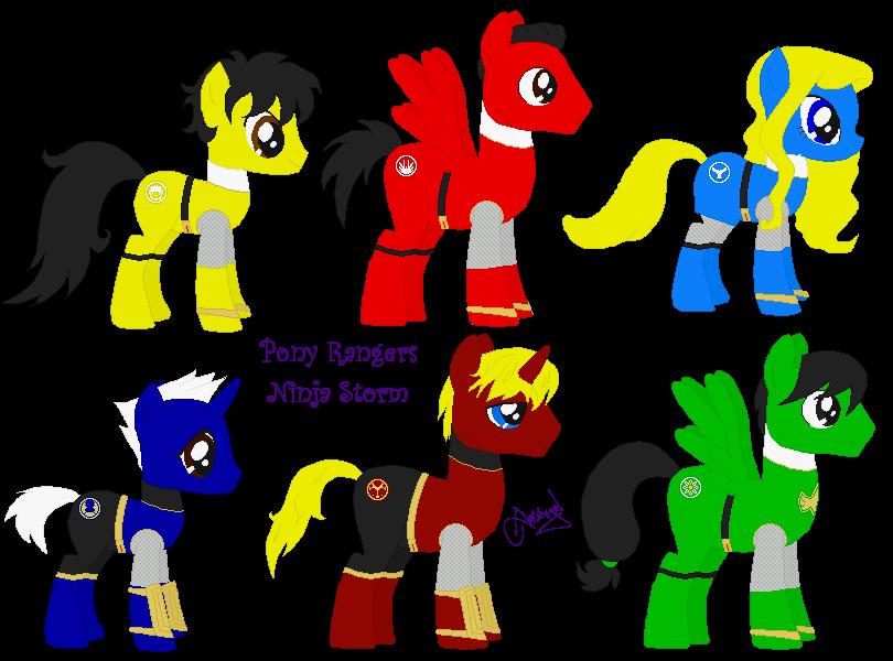 Pony Ranger Ninja Storm V2 by Ameyal