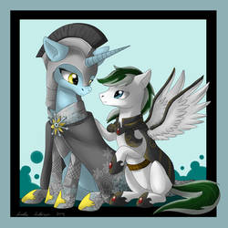 Just your Presence - Snow Charm and Loyal Wing by Omega-Wing