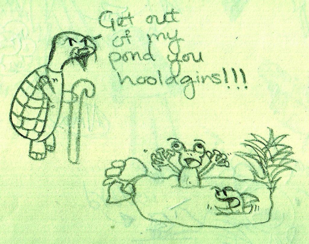 pond doodle by blair-raspberryl