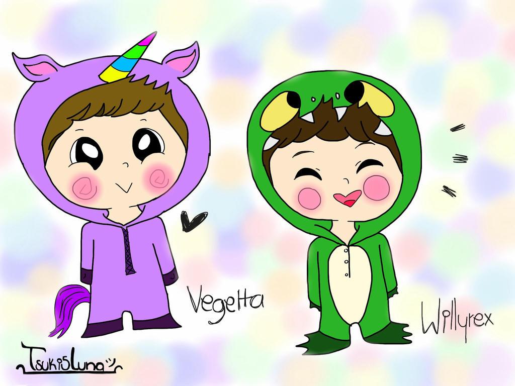 Dibujos Para Colorear Vegetta 777: Vegetta777 Y Willyrex By Tsuki5luna On DeviantArt