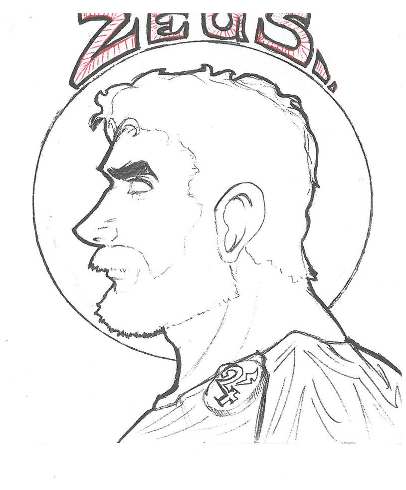 Zeus sketch by geoffreydean on DeviantArt