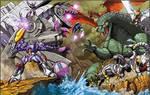 Transformers vs. Godzilla