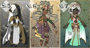 Fantasy Adoptables #25 #26 #27 - OPEN by ChairaeAdopts