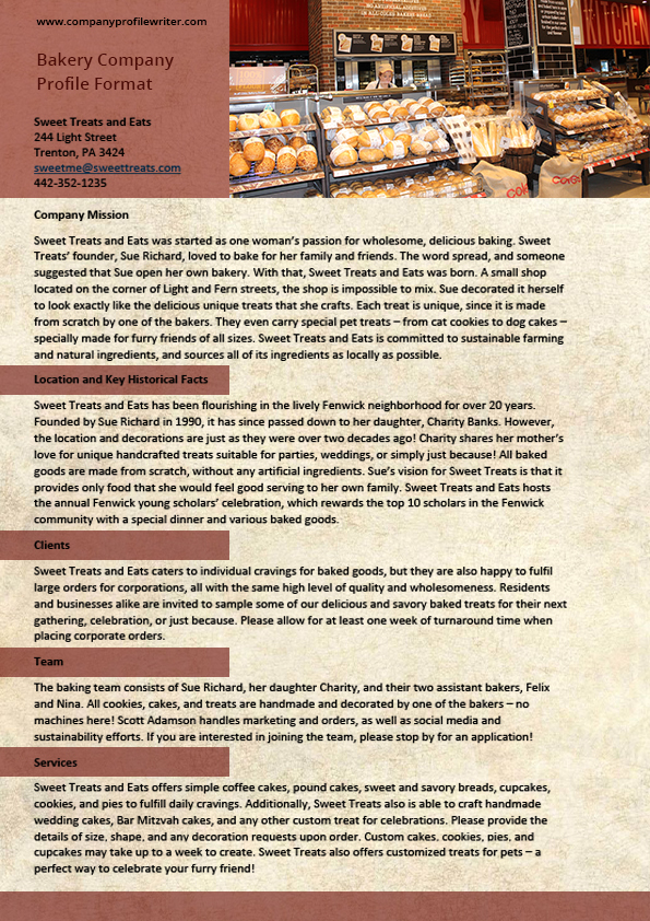 Bakery Company Profile Example by Thomasjackk on DeviantArt – Best Company Profile Format