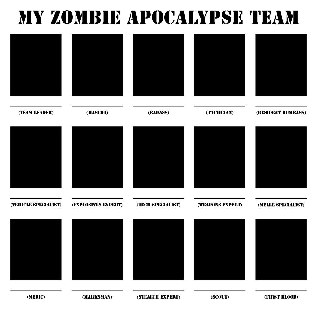 Zombie apocalypse team template by w0wm4st3r
