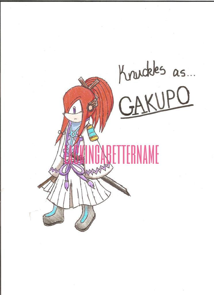 Knuckles as... Kamui Gakupo by lackingabettername