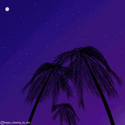 Midnight3  (A Lovely Night With Palm Trees)