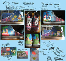 Alice in Wonderland shoes by KiDa90