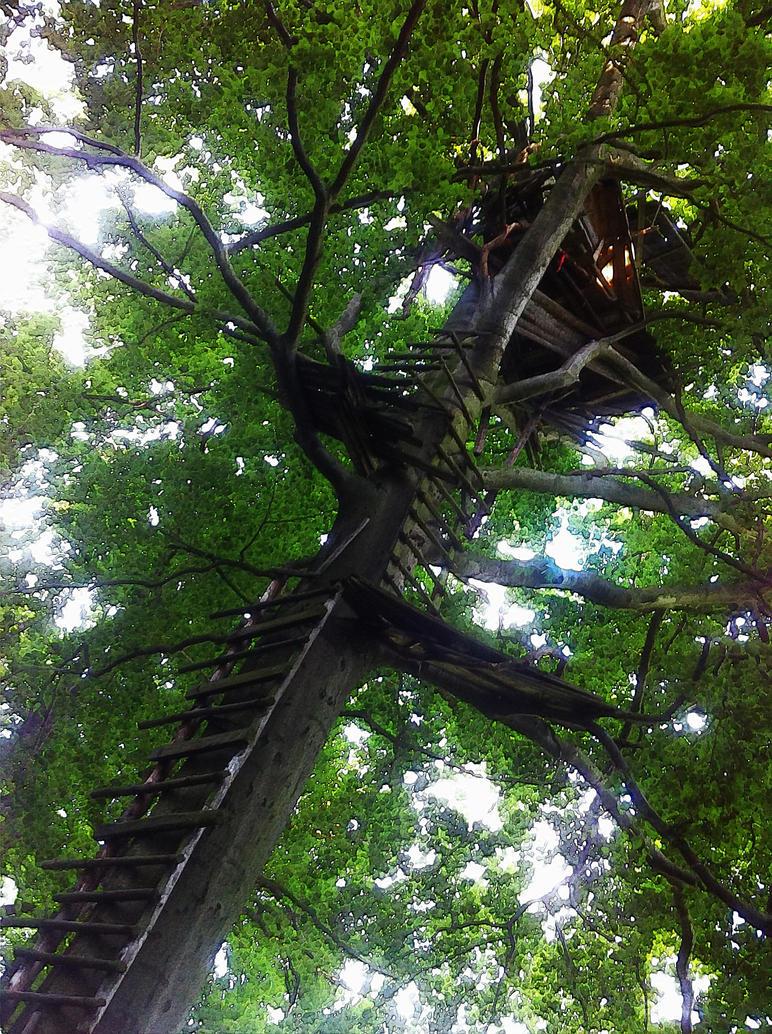 ... tree house something ... by wolfilain