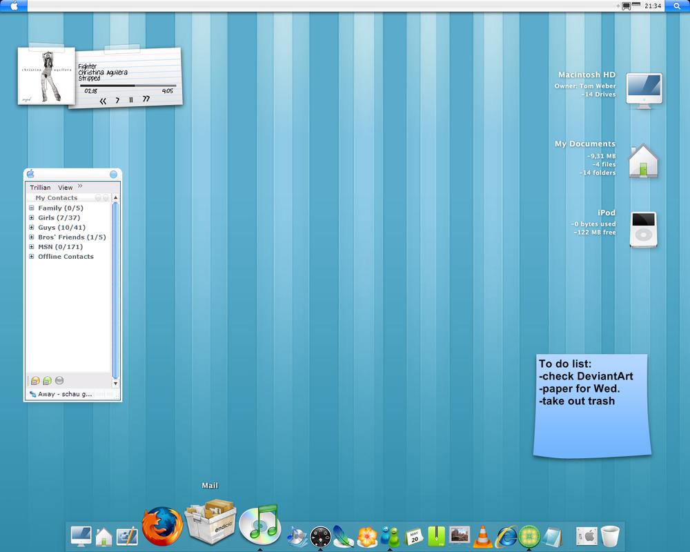 New Desktop Setup by IdiocyX