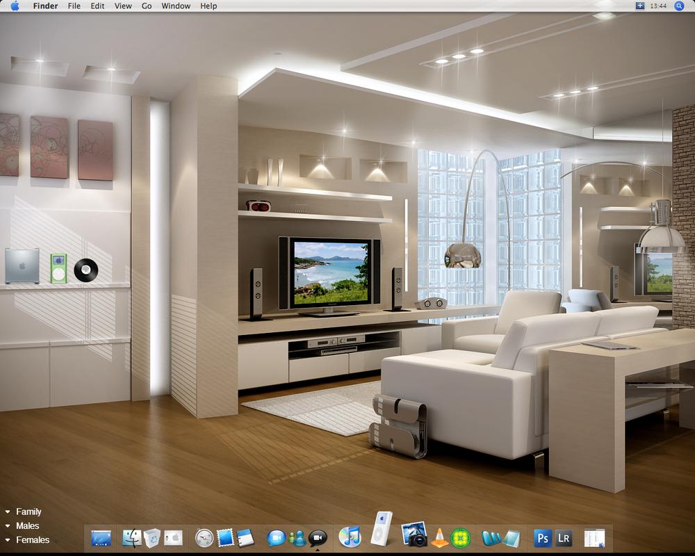 desktop living room by idiocyx on deviantart