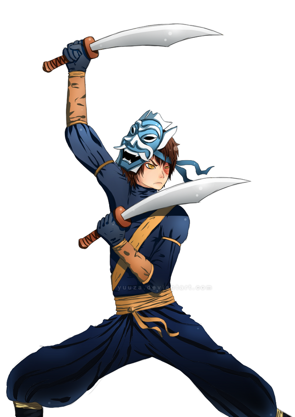 Zuko the Blue Spirit by YuuzaBlue Spirit Swords