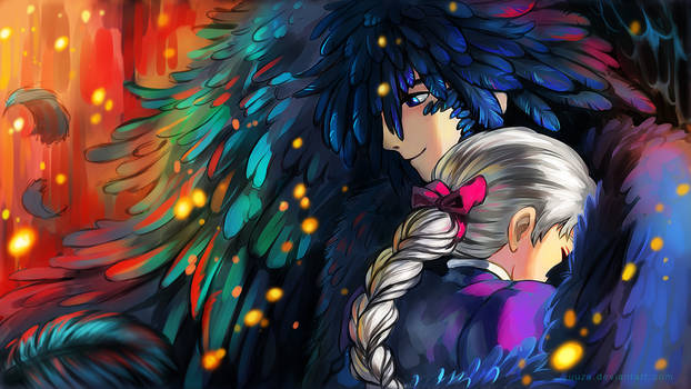 Howl and Sophie Wallpaper