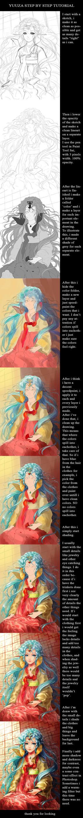 Coloring tutorial by Yuuza