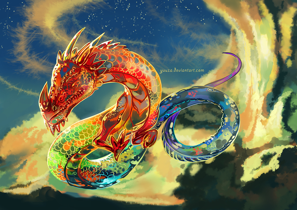 big rainbow dragon wallpaper - photo #18