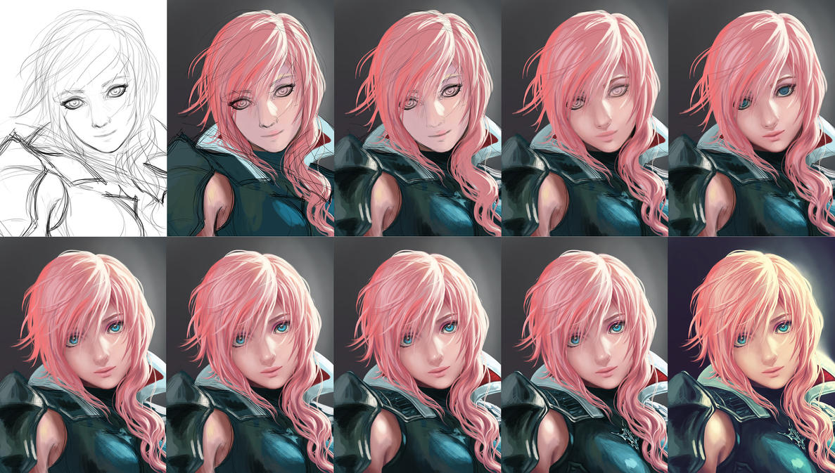 Lightning - Step by Step by Yuuza on DeviantArt