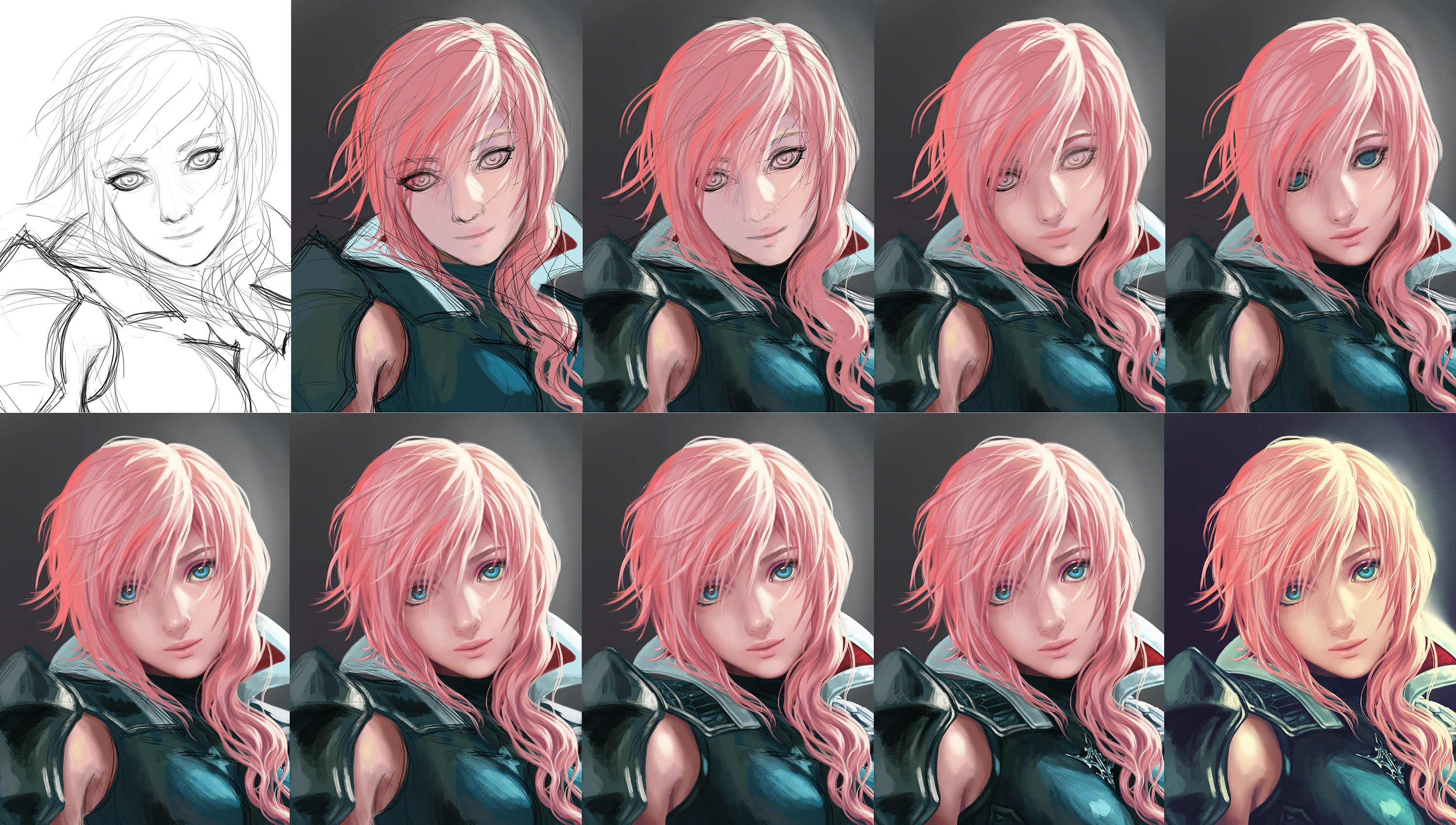 Lightning step by step by yuuza on deviantart for Step by step painting tutorial