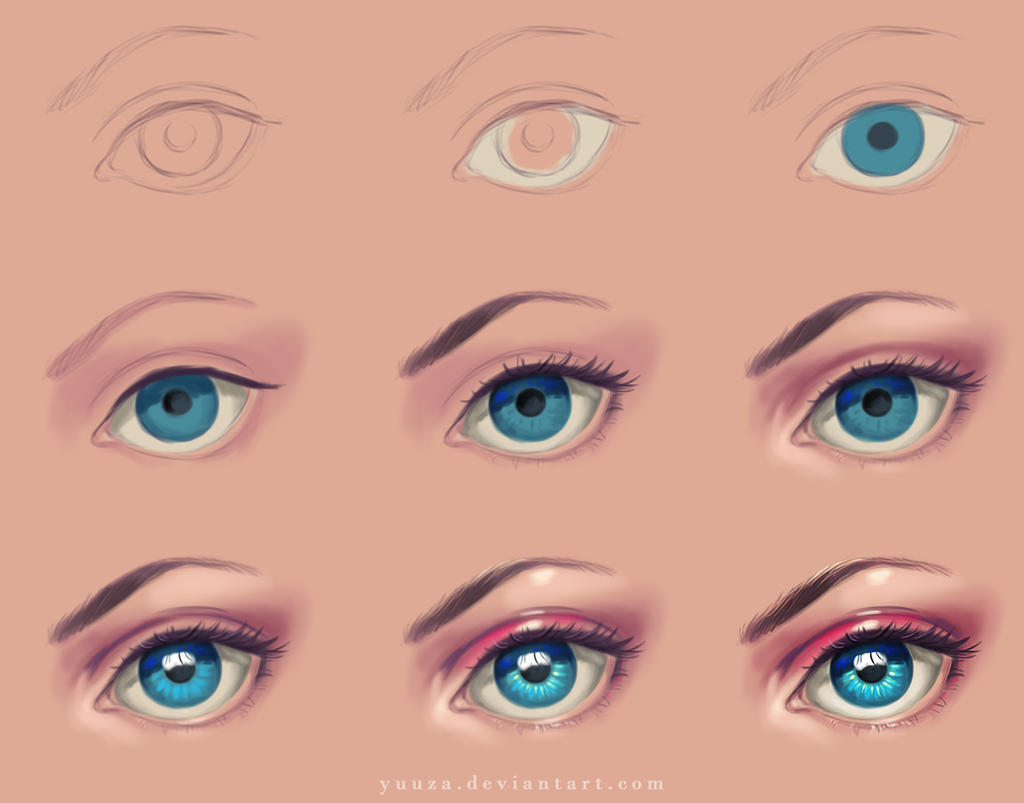 Eye step by step by yuuza on deviantart for Step by step painting tutorial