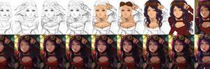 Asami - step by step by Yuuza