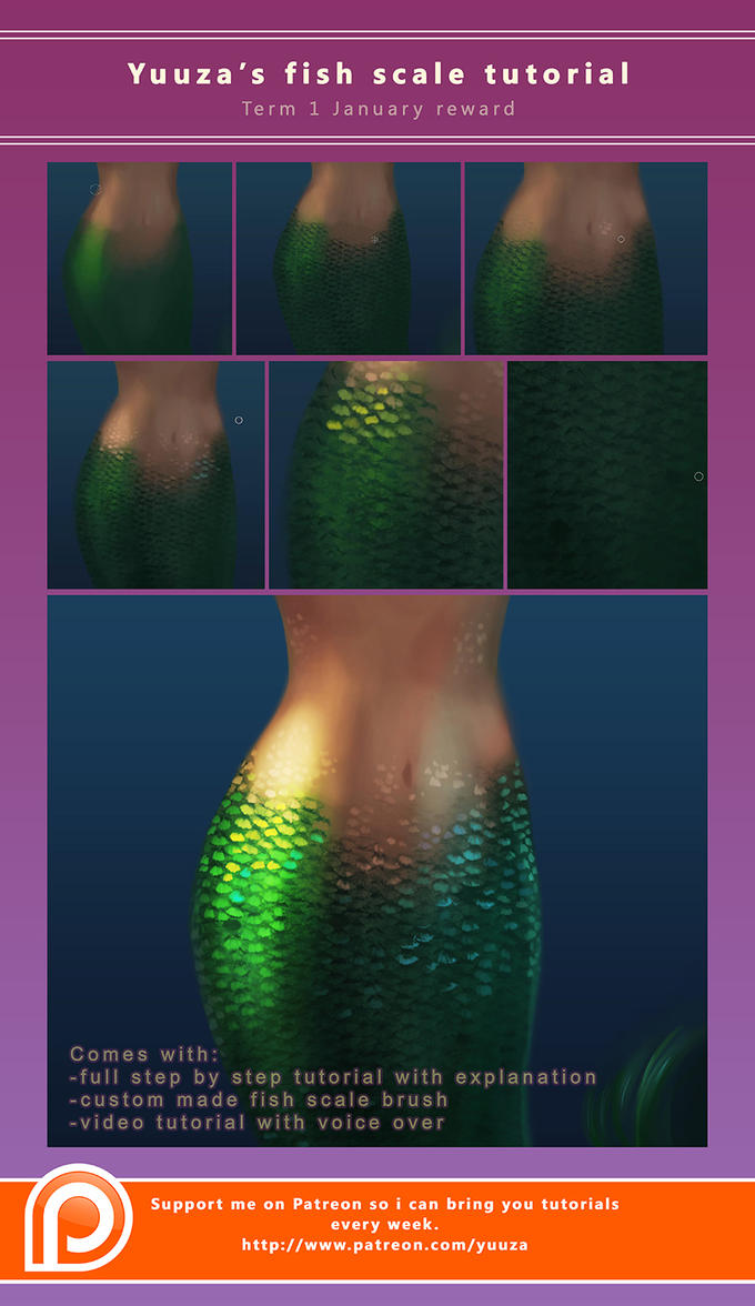 Fish scale tutorial by yuuza on deviantart fish scale tutorial by yuuza baditri Image collections