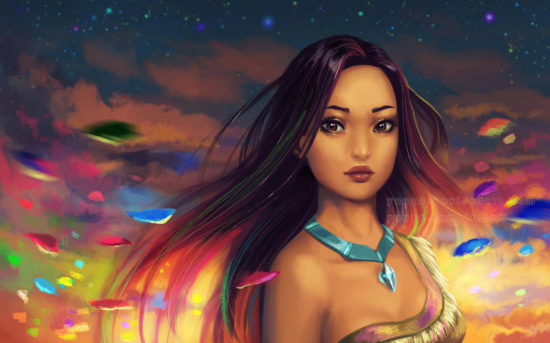 Pocahontas - wallpaper by Yuuza