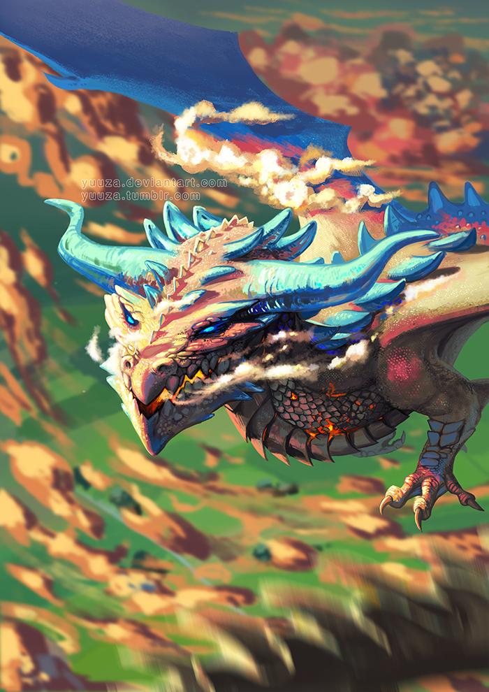 Topaz Dragon by Yuuza on DeviantArt
