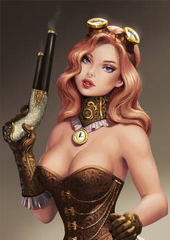 Pinup Steampunk girl