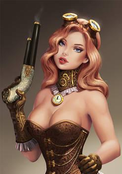 Pinup Steampunk girl