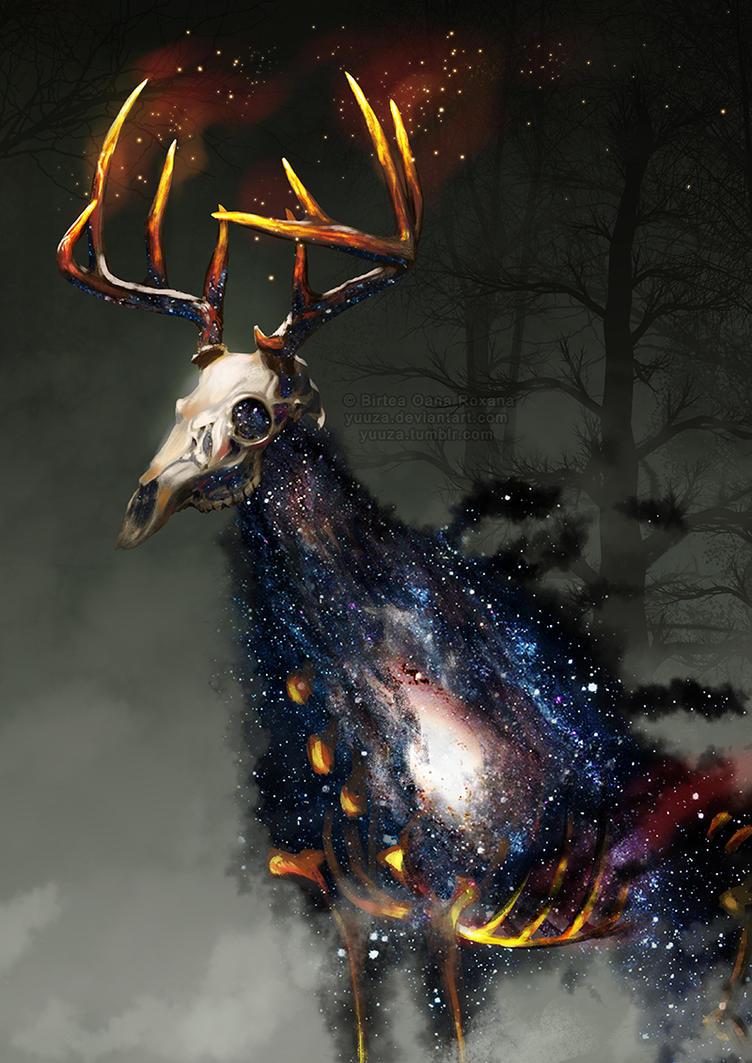 Burning Deer by Yuuza