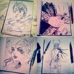 Inktober 2015 sketches