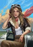 WW2 pilot girl