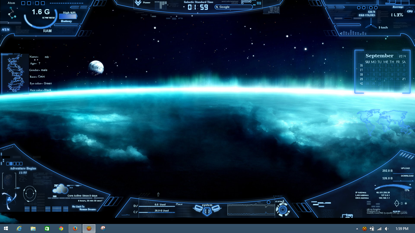 Rainmeter by mb67 on deviantart for Deviantart rainmeter