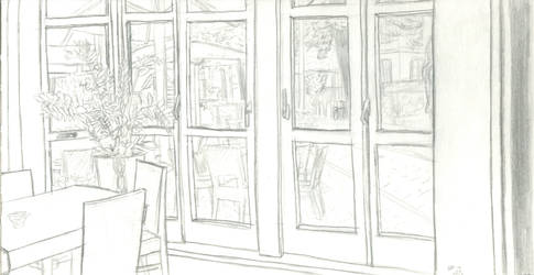 Drawing from real - Cafe
