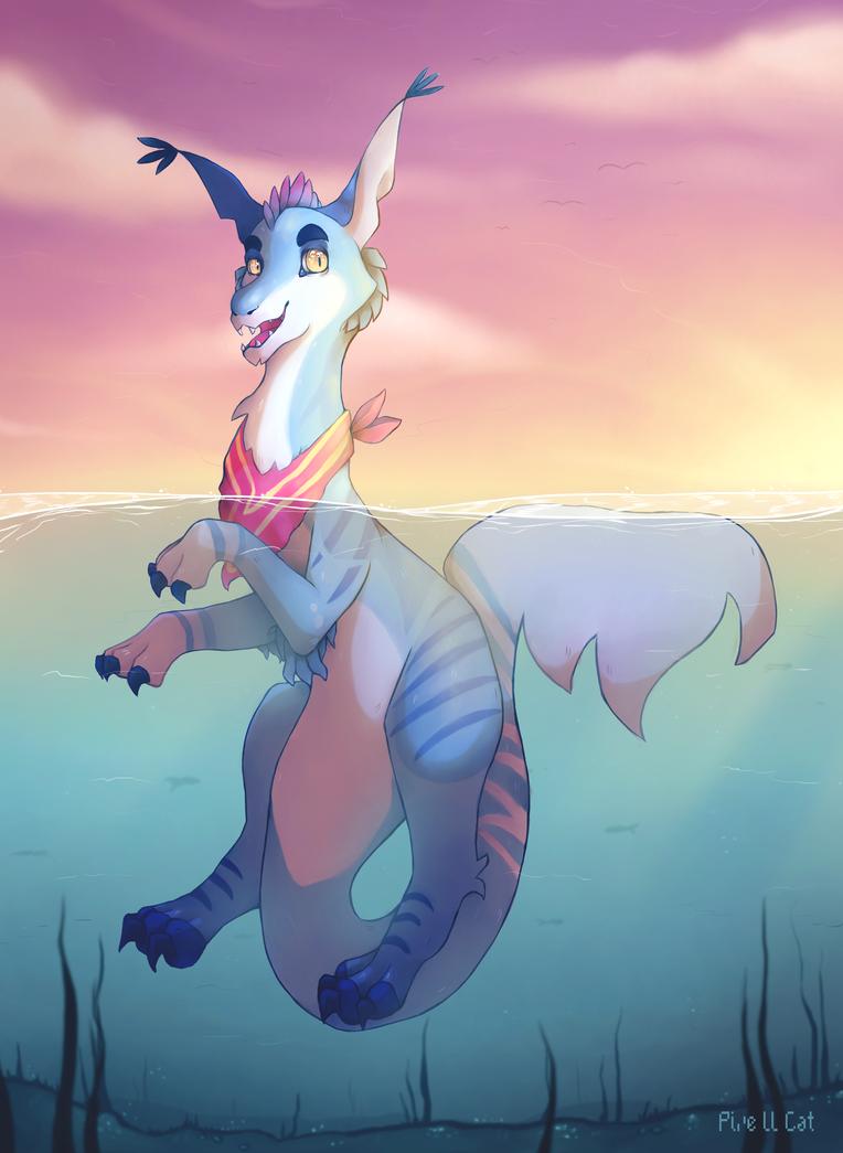 Swimmin by Pixe-ll-Cat