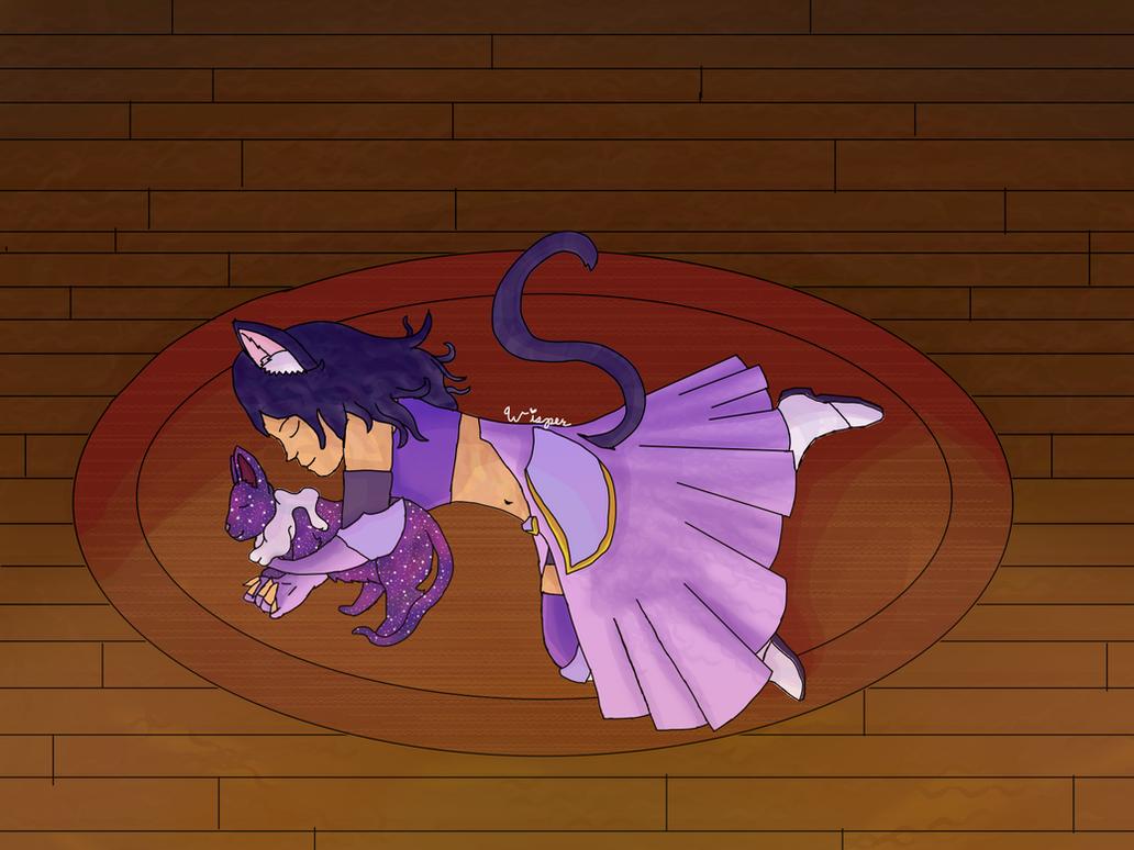 Cuddly kitty {Aphmau Dreams of Estorra} by WisperWillowdraws