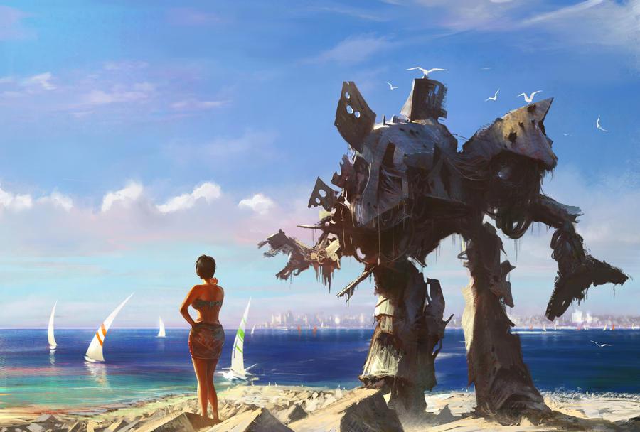 Beach mecha by agnidevi