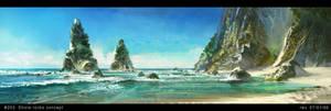 Shore rocks concept