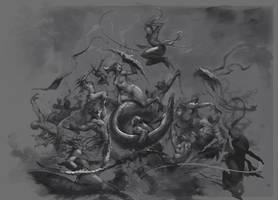 Daemonettes vs Eldars sk