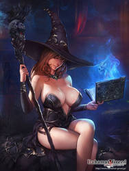 Black Sorceress by agnidevi