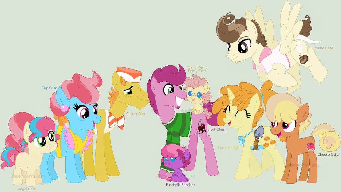 bf5d592bc75 MLP NG Family  The Cakes by BookWormPony on DeviantArt