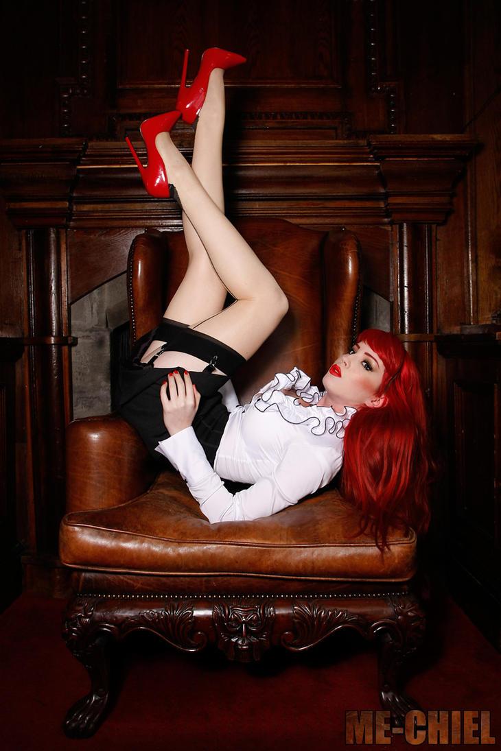 Stockings in high heels