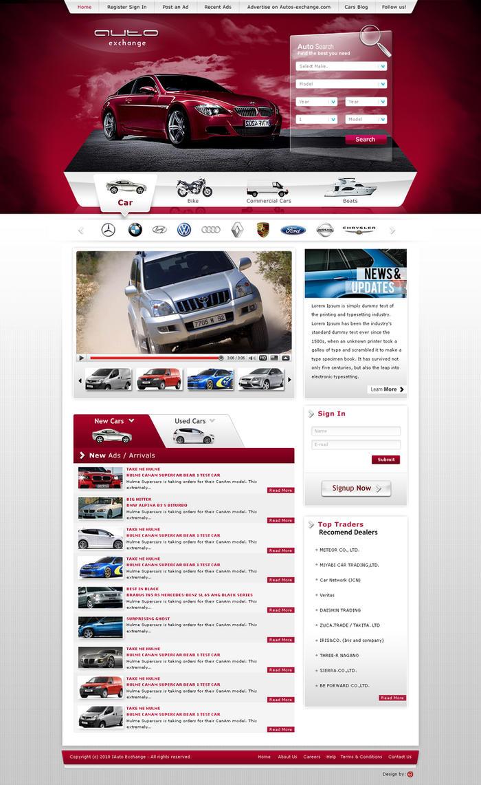 Auto Exchange Web Design by Dexign-Oxigen
